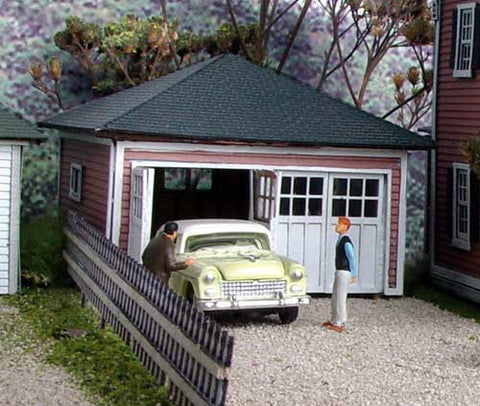 Branchline Trains 631 HO Cadillac Garage - Laser-Art Building Kit