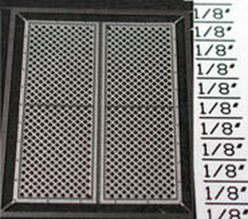 Detail Associates 2727 HO EMD Early Air Grilles for Proto 2000 SW9/1200