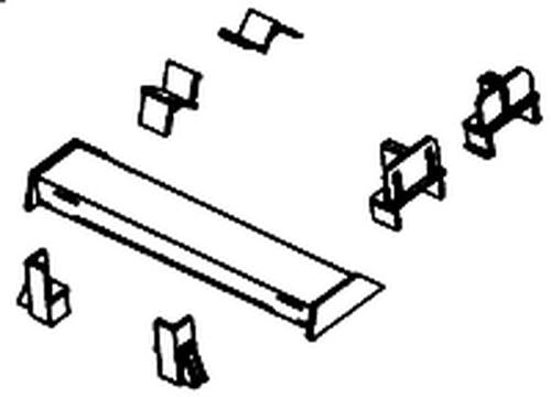 Details West 1015 HO Scale Container End Fixed Restraint Curbs for 60' & 89' Flats