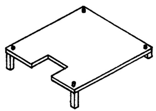 Details West 223 HO Scale Antenna Mounting Stand Style #2 (Pack of 2)