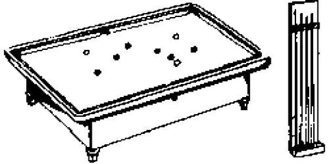 Evergreen Hill 648 HO Pool Table & Cue Rack