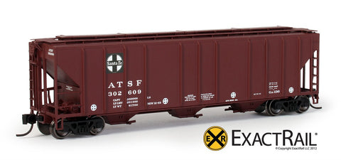ExactRail EN530106 N Santa Fe ATSF PS2CD 4427 Covered Hopper #302657