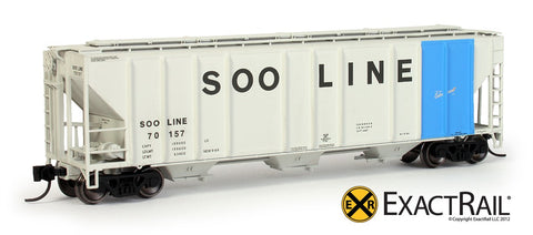 ExactRail EN530151 N Soo Line PS2CD 4427 Covered Hopper #70157