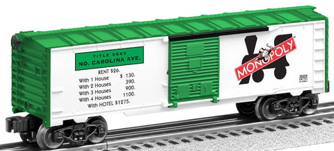 Lionel 6-39354 O Monopoly North Carolina Boxcar