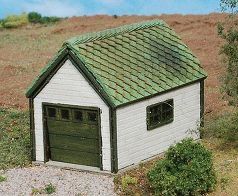 GCLaser 292-247 N Scale 1-Car Garage (Laser-Cut Wood Kit) 1-1/2 x 2 x 1-1/4