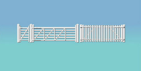 Ratio 420 HO GWR STN. FENCING,WHITE
