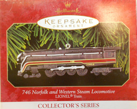 Hallmark QX6377 Lionel 746 Norfolk and Western Steam Locomotive Christmas Ornament #4