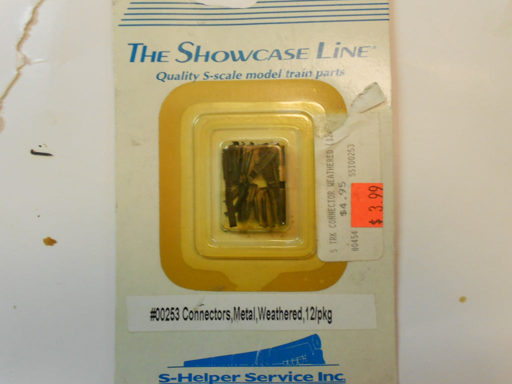 S-Helper Service 00253 The Showcase Line Connectors, Metal, Weathered (12 PR)