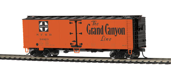 MTH 85-78031 Santa Fe HO Scale 40' Steel Sided Reefer Car #34923