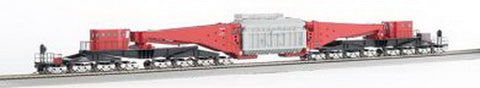 Bachmann 80503 Spectrum Red/Black 380-Ton Schnabel 16-Truck Heavy-Duty Car