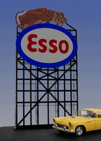 Miller Engineering 6072 N/HO Esso Animated Neon Billboard Smal