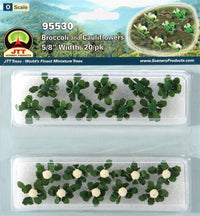 JTT Scenery Products 95530 O 5/8'' Broccoli & Cauliflowers (Set of 20)