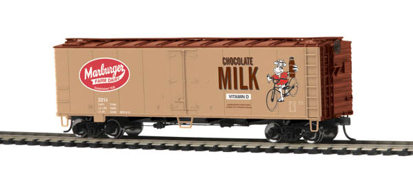 MTH 85-78026 Marburger HO Scale 40' Steel Sided Reefer Car #2014