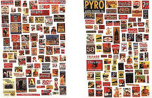 JL Innovative Design 622 N 1930s-50s Country Store Signs/Posters (Set of 185)