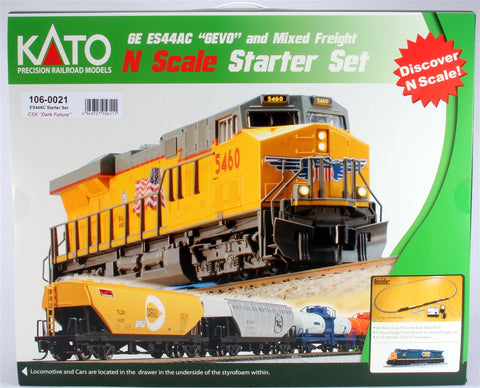 Kato 106-0021 N ES44AC Freight Train Set, CSX/Dark Future