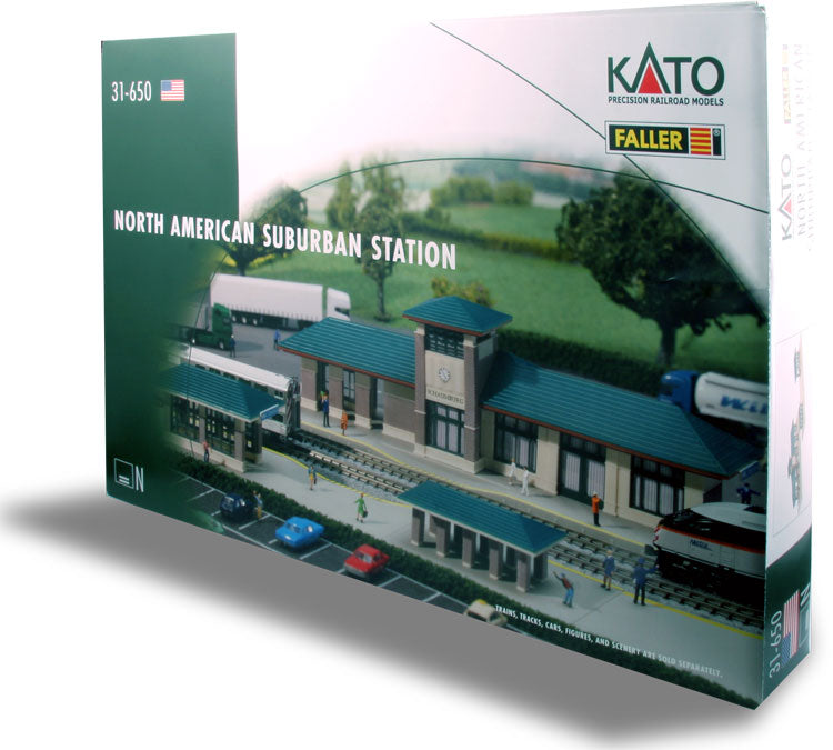 Kato 31-650 N N.AM Suburban Station Kit