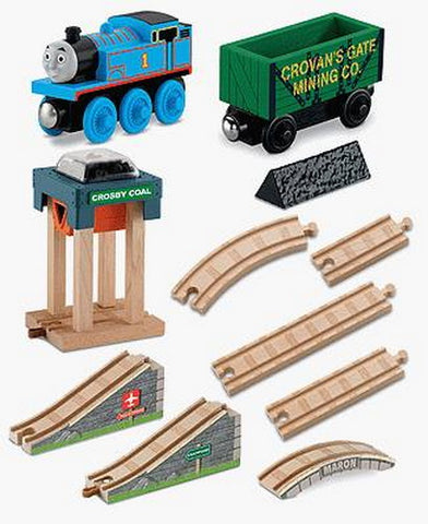 Fisher Price Y4091 Thomas & Friends™ Wooden Railway Coal Hopper Figure (8) Train Set