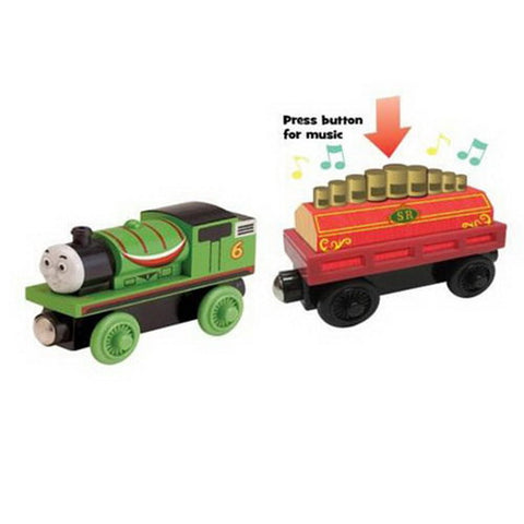 Fisher Price Y4105 Thomas & Friends Wooden Railway Percy's Musical Ride