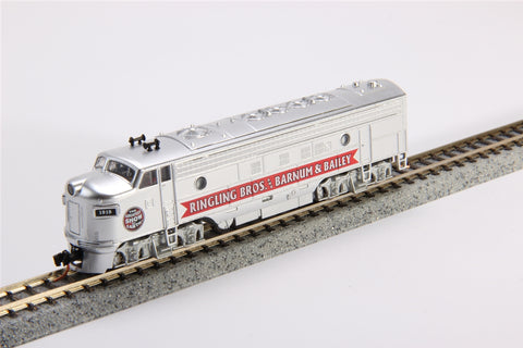 MicroTrains 98500722 N Scale Ringling Bros FP-7 Diesel Locomotive #1919