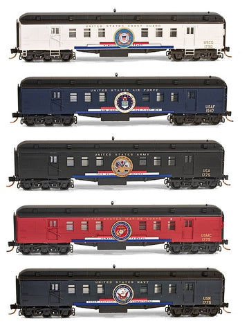 MicroTrains 99321140 N Scale US Veteran's Tribute Collectible 5-Car Set