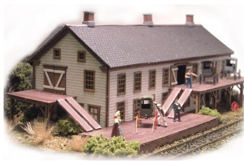 The N Scale Architect 10017 N Gruber Wagon Works Kit