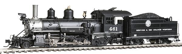 Blackstone Models 310127S HOn3 Denver & Rio Grande Western K-27 Steam Loco w/Sound/DCC #461