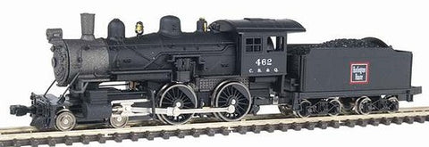 Model Power 87624 N Chicago Burlington & Quincy 4-4-0 American Locomotive with Tender #462