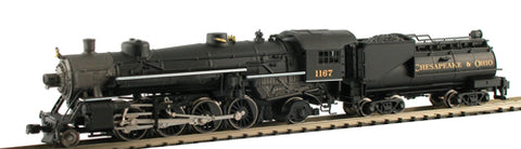 Model Power 87595 C&O USRA 2-8-2 Mikado Steam Loco w/Vandy Oil Tender