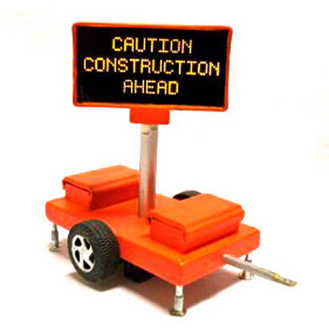 Miniatronics 85-001-01 HO Road Sign, Construction Ahead