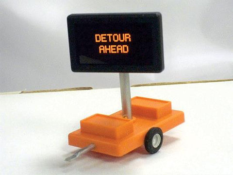 Miniatronics 85-004-01 HO Road Sign, Detour Ahead