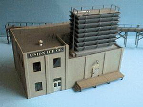 Alpine Division Scale Models 566 HO Union Ice Company 2-Story Building with Dock