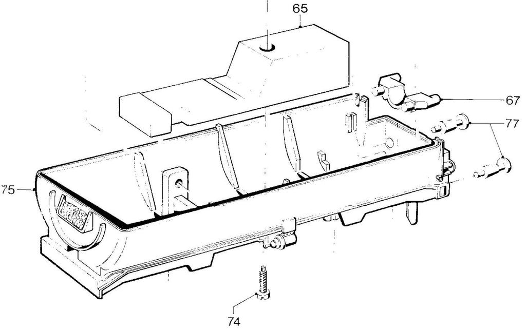 Marklin 553720 Tender Bottom For 3301+