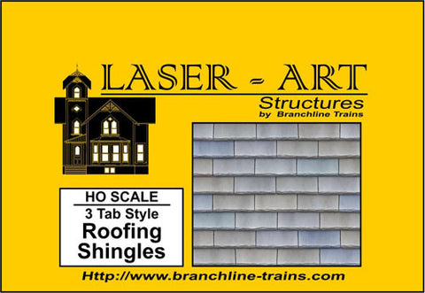 Branchline Trains 901 Roof Shingle 3 Tab 2/