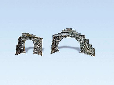 Faller 282934 Z Scale 1 & 2 Track Tunnel Portals (2 Pair)