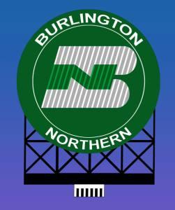 Miller Engineering 880701 O/HO Burlington Northern Animated Neon Billboard Large