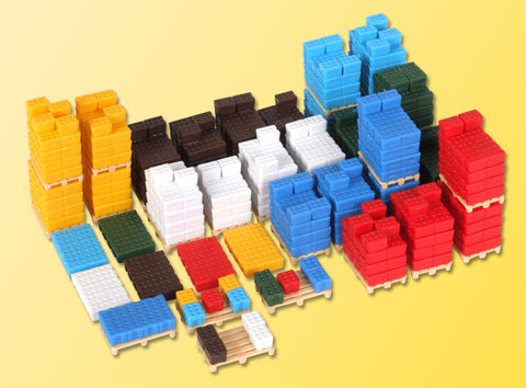 Kibri 38662 1:87 Beverage Crates on Pallets