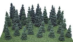 "Heki 306 Mini-Forest Small Pine Trees 2""-3.5"" (Set of 30)"