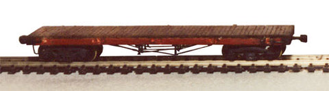 JV Models 9205 HO Scale 40' Truss Rod Wood Flatcar Kit
