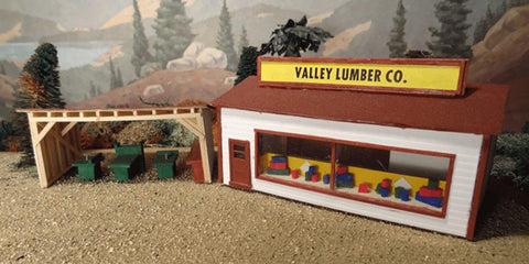 Alpine Division Scale Models 562 Lumber co store & shed