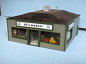 Alpine Division Scale Models 76 Ed's Market w/int & lts