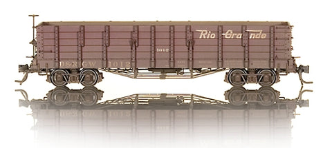 Blackstone Models 340408W HOn3 Denver & Rio Grande Western High Side Gondola #1012 -Weathered