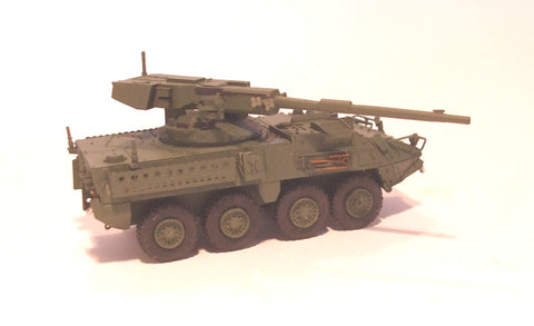 Trident Miniatures 87103 HO Stryker ICV Armored Fighting Vehicles M1128 Mobile Gun System w/Cannon