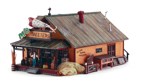 Woodland Scenics BR5047 HO Scale Built-Up Mo Skeeters Bait & Tackle Building
