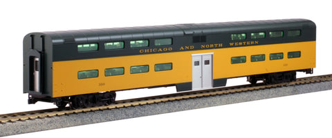 Kato 35-6037 HO Chicago & North Western Pullman Bi-Level 4-Window Coach #310