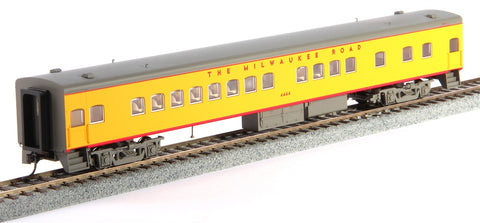 Fox Valley Models 10103 HO 1935 Bunk Coach, MILW/UP Yellow & Gray #4444