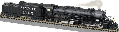 American Flyer 6-48178 S Scale Santa Fe 2-8-8-2 Steam Locomotive - Legacy