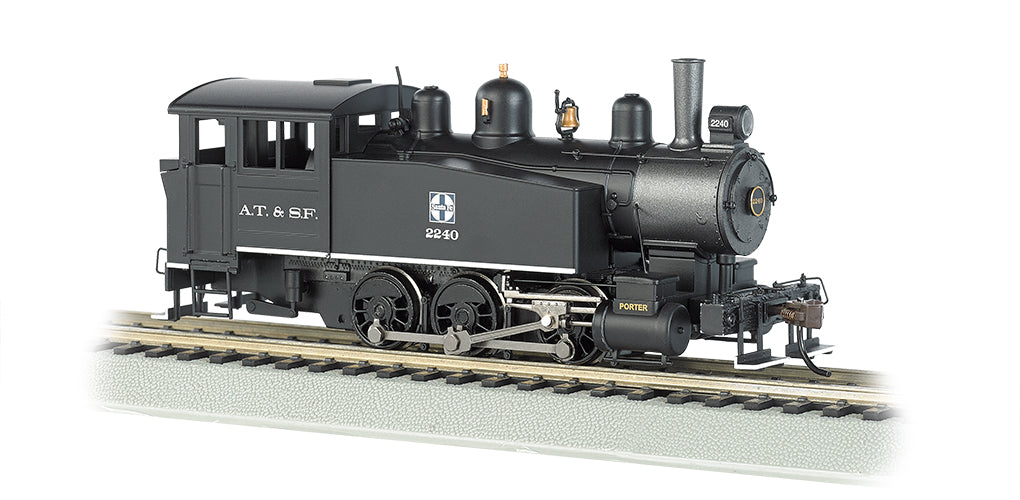 Bachmann 52105 HO Santa Fe Porter 0-6-0T Side Tank Steam Locomotive w/DCC #2240