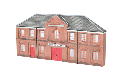 Bachmann 35007 HO Merchants Hall Thin Profile Building (Assembled)