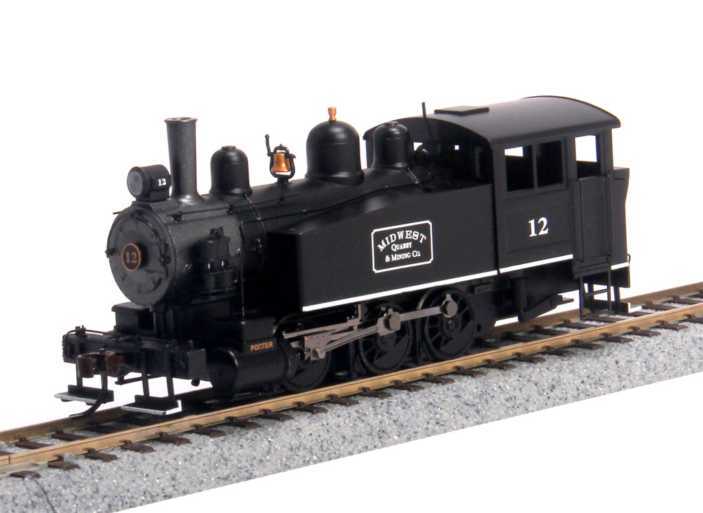 Bachmann 52103 HO Midwest Porter 0-6-0T Side Tank Steam Locomotive w/DCC #12