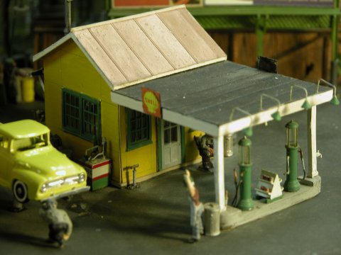 Scale Structures 1201 HO 1920's Gas / Service Station